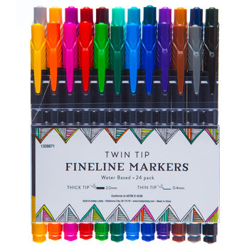 Twin Tip Fineline Markers